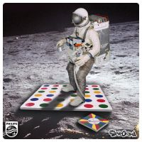 Astronaut attempting to play Twister by SteveOramA