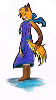 MoonStoneWolf In a human-oid form by MoonStonePack
