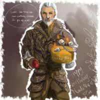 TES: Sheogorath Birthday Cheese by thunderjelly