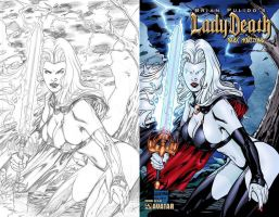 Lady Death Dark Horizons by gabrielguzman
