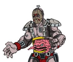 tmnt Jason with Krang by ibentmywookiee
