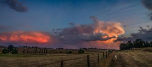 Passing summer storms by MarkKenworthy