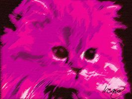 Pink cat by PoisonHeart555