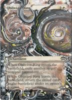 Magic Card Alteration: Oblivion Ring by Ondal-the-Fool