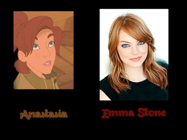 Anastasia - Emma Stone by FalseDisposition