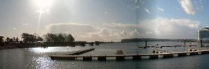 Cardiff Bay Panoramic I by evilminky666