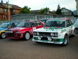 Lancia Delta integrale and Fiat 131 Abarth by franco-roccia