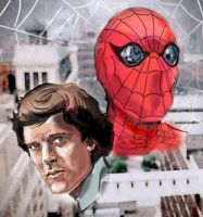 Nicholas Hammond as Spider-man by Simon-Williams-Art