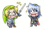 Chibi Link and Marth by Rachet777