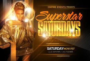 Superstar Party Flyer by ImperialFlyers