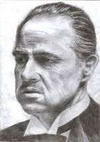 Marlon Brando Godfather by earlierbirdscenic