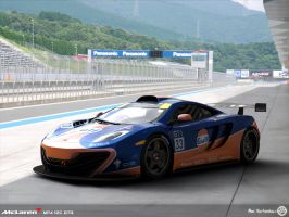 Gulf MP4-12C GTR Pit lane by AfroAfroguy