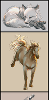 Animal Sketches by soulwithin465