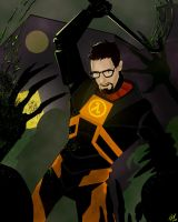 Gordon Freeman in Ravenholm by RevDenton