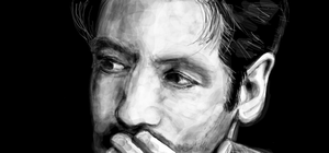 David Duchovny Graffiti by StandsWithAPencil
