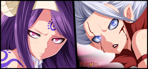 Mirajane vs Sayla - Fairy Tail 375 by DudnxJC
