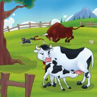 Cow and the Calf by Bezende