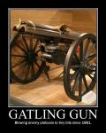 Gatling Gun motivater by AUTODECEPTITRON