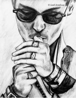 Johnny Depp Smoking by ScenicSarah
