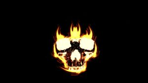 Fire Skull by GhoulishGrizzly
