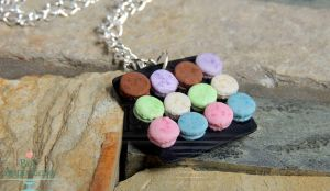 Gift - 1:12 Macaron Plate Necklace by Bon-AppetEats