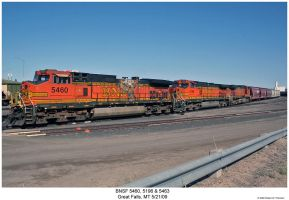 BNSF 5460, 5196 and 5463 by hunter1828