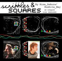 Scribbles and Squares by Nina-Sakura