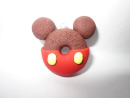 Polymer Clay Mickey Mouse Doughnut by Darklunax110