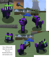 Minecraft Nyx Skin screencaps by Jovey4