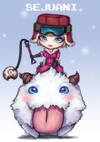 Fan Art LOL Chibi Poro Rider Sejuani by PuddingzZ