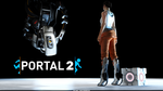 Portal 2: Chell and GLaDOS by Cloudi5