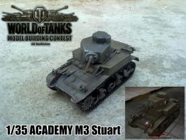 World of Tanks Model Building Contest M3 Stuart by Rom-Stol