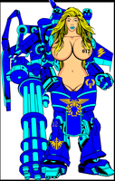 WarHammer Sexy Space Marine 02 by BluePhoenix012