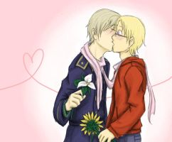 APH - Kisses and Flowers by Brainiac6Techgirl