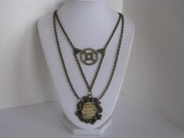 Steampunk Necklace Neovictorian Resin Pendant with by bcainspirations