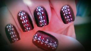 Corset Nails by wolfgirl4716