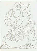 Uncolored Pyro Dragon by Weretoons101