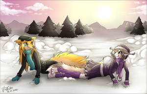Snow is... Falling! by Felidre
