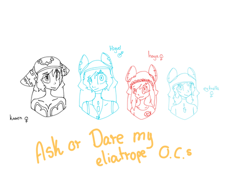 Ask or Dare my eliatrope ocs! (OwO)/ by aklasha354