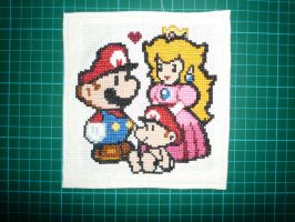 mario, peach and baby mario by relax-relapse