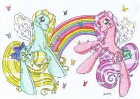 Flutter Ponies by melodythelittlepony