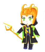 Lineless Chibi Loki by Manga-Lauren