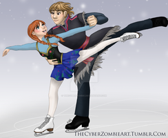 KristAnna Figure Skating by TheCyberZombie