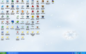 My Boring, Messy Desktop by funlakota