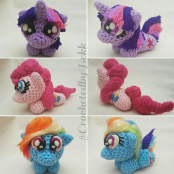 Palm sized ponies by CrochetedbyBekk