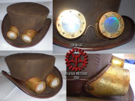 Steam Punk Hat Goggles by Steam-HeART