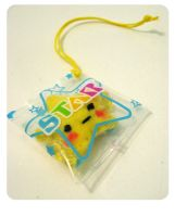 Plastic bag charms Star by kickass-peanut