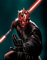 Darth Maul inks3 by deffectx