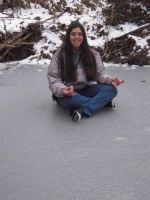 Me sitting on ice -for id- by Aoarashi