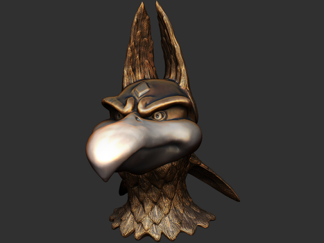 3D Sculpt: Antro Bird 1 by BlueKecleon15